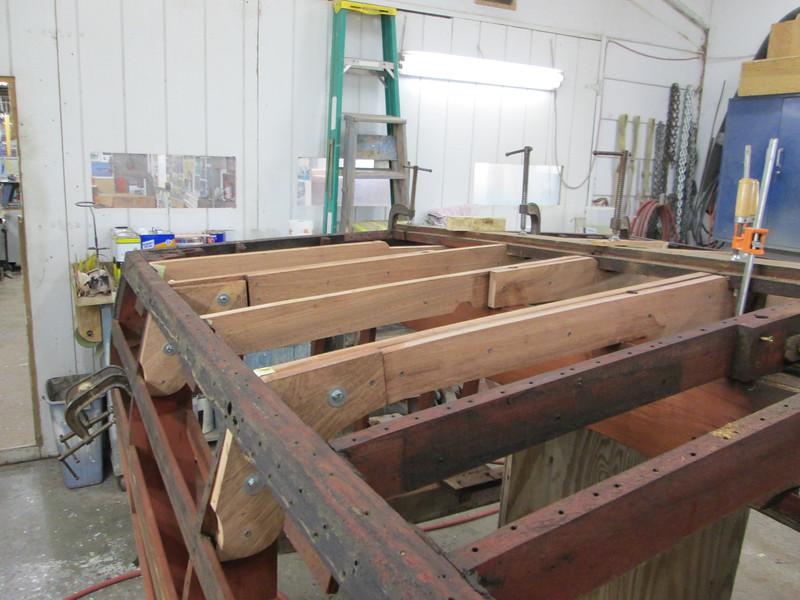 First four bottom frames installed.