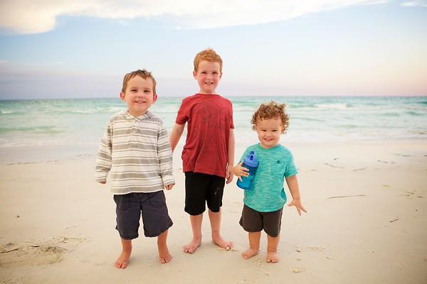 our boys on the beach