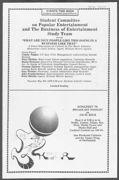 Daily Trojan, Vol. 76, No. 55, May 08, 1979