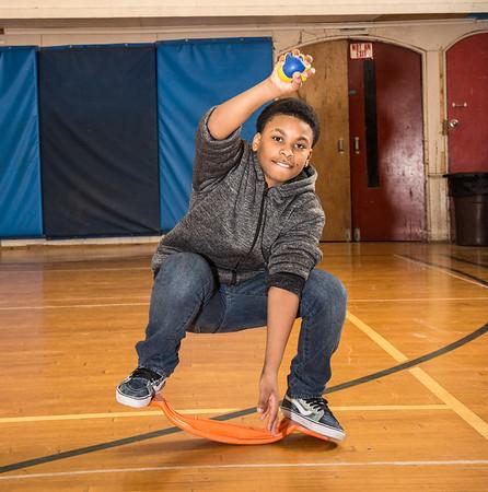 Bindlestiff Cirkus training at Hudson Youth Center