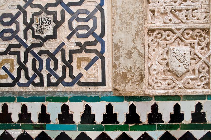 Fri 3/11 at La Alhambra in Grenada: Tile and stone detail