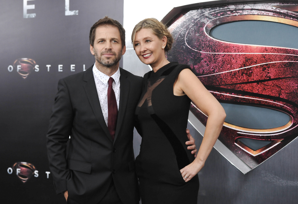 """. Director Zack Snyder and his wife, producer Deborah Snyder, attend the \""""Man Of Steel\"""" world premiere at Alice Tully Hall on Monday, June 10, 2013 in New York. (Photo by Evan Agostini/Invision/AP)"""