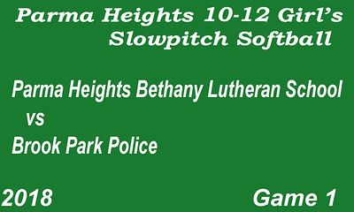 180608 Parma Heights Girl's 10-12 Slowpitch Softball Game 1