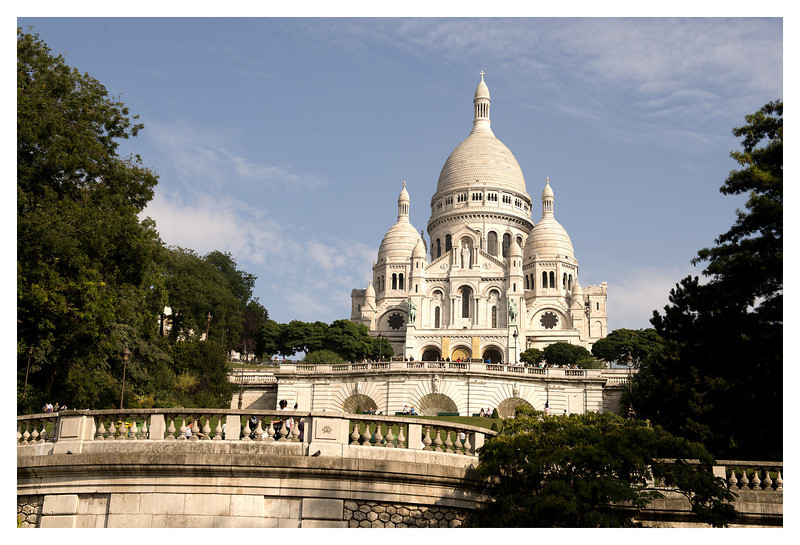 "Basilica de Sacre Coeur - Completed in 1914. One of the ""new"" cathedrals in Paris."