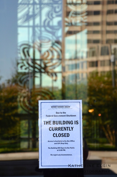 As a result of the shutdown, the John F. Kennedy Center for the Performing Arts' public visiting hours were restricted.