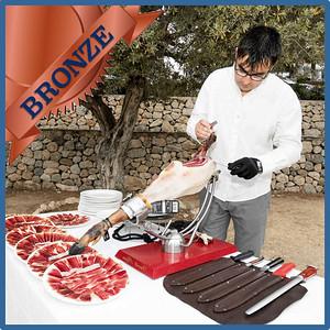 40302 Spanish ham cut by maestro cortador Bronze