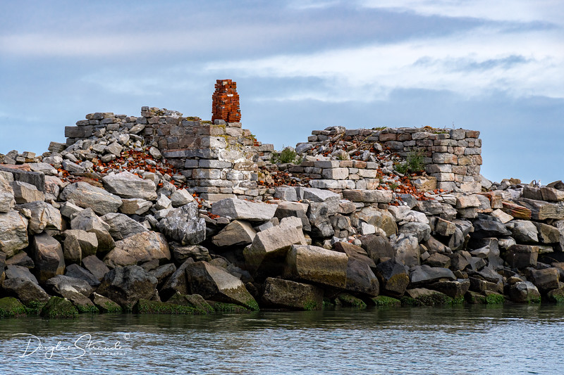 Foundation remains of the West-End Lighthouse