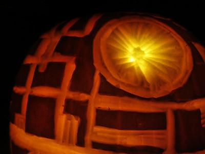 Death Star Pumpkin 2013