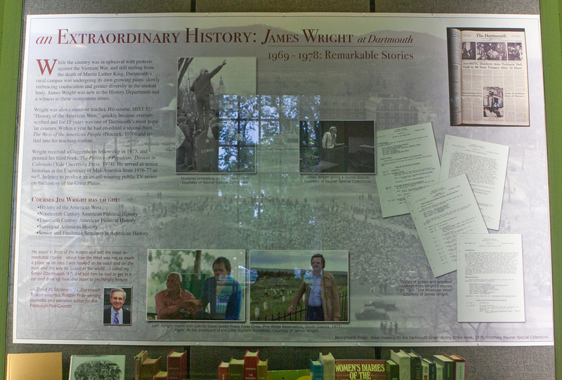 Day 5 - Baker Library James Wright display