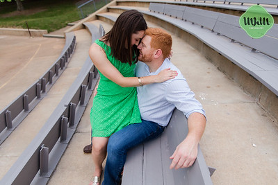 Corinne & Jonathon | A Classic Summer Engagement (with a touch of goofiness!) at North Carolina Museum of Art