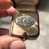 1.64ctw Vintage Princess Style Oval Cluster Ring 5