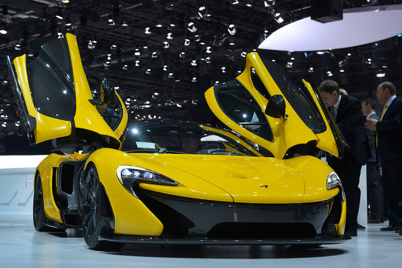 . The new McLaren P1 is displayed in World premiere at the Geneva International Motor Show on March 5, 2013 which opens its doors today under a dark cloud, with no sign of a speedy rebound in sight for the troubled European market. The event, which is considered one of the most important car shows of the year, will again be heavily marked by the crisis in Europe after an already catastrophic year in 2012.  SEBASTIEN FEVAL/AFP/Getty Images