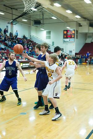 District Tournament Granite Boys vs Sheridan 54 to 35 Win