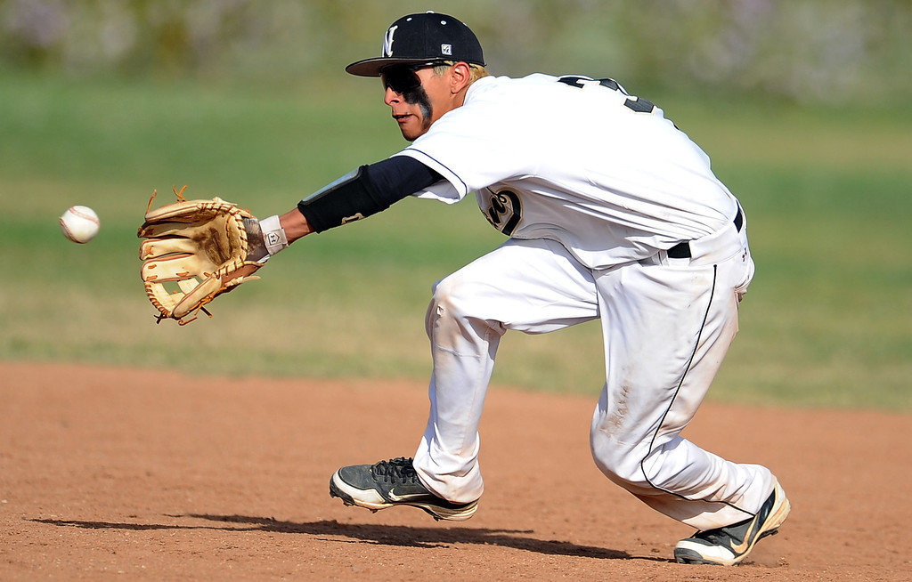 . Northview\'s Anthony Amaya in the sixth inning of a prep baseball game against Baldwin Park at Northview High School on Tuesday, April 23, 2012 in Covina, Calif. Northview won 8-2.    (Keith Birmingham/Pasadena Star-News)