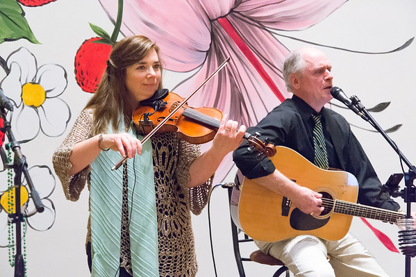 03/15/19 Wesley Bunnell | Staff The group Ringrose & Freeman played traditional Irish music during Irish Night at the New Britain Museum of American Art on Friday March 15.
