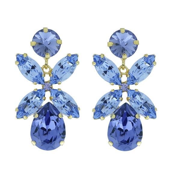 Dione Earrings / Tanzanite + Provance Lavender