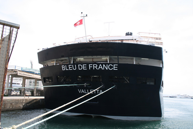 M/S BLEU DE FRANCE : the stern.
