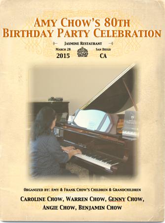 Amy Chow's 80th Birthday Celebration, 3/28/15