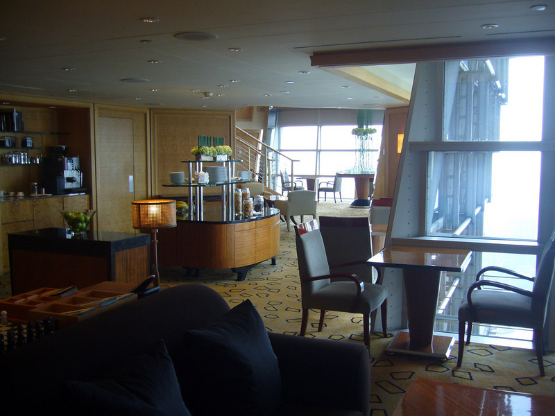 Hyatt Hotel private guest lounge in Jin Mao Tower Shanghai Hyatt (Jin Mao Tower in Pudong)