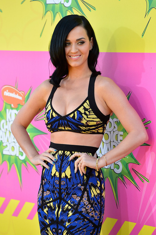 . LOS ANGELES, CA - MARCH 23:  Singer Katy Perry arrives at Nickelodeon\'s 26th Annual Kids\' Choice Awards at USC Galen Center on March 23, 2013 in Los Angeles, California.  (Photo by Frazer Harrison/Getty Images)