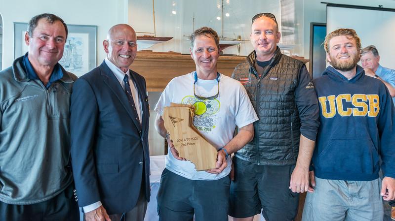 Commodore Kimball Livingston presents 2nd place prize to  Chris Kostanecki