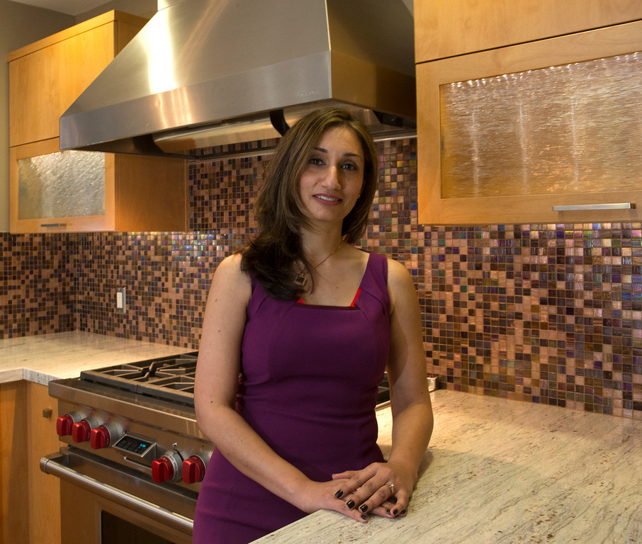 . Ayesha Skiandar designed the kitchen in the home of Madhu Charan in San Mateo, Calif., on Tuesday, Jan. 29, 2013.