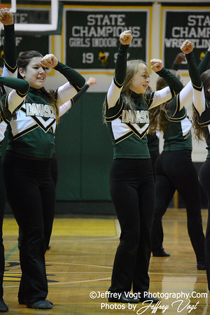 12-18-2013 Damascus HS Varsity Poms & Cheerleading,   Photos by Jeffrey Vogt Photography