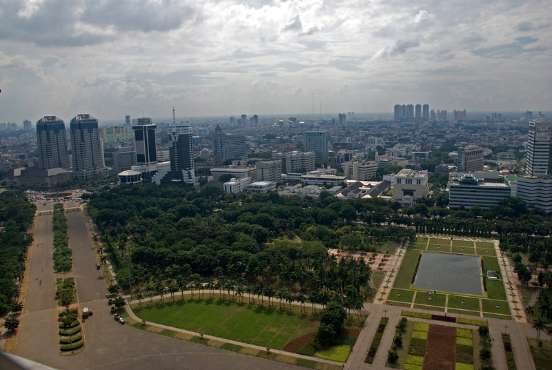 Beautiful skyline at Jakarta in Indonesia