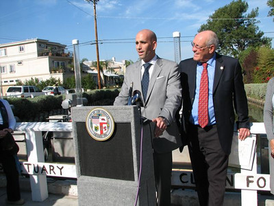Press Conferences re Canals and Crosswalk in Venice