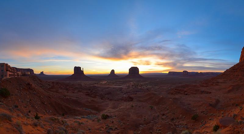 Monument Valley sunrise pano