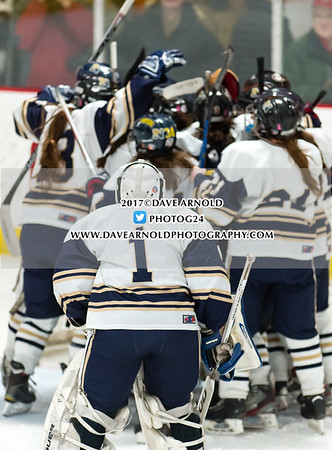 3/13/2017 - Girls Varsity Hockey - MIAA D1 Semifinal - Reading vs Needham