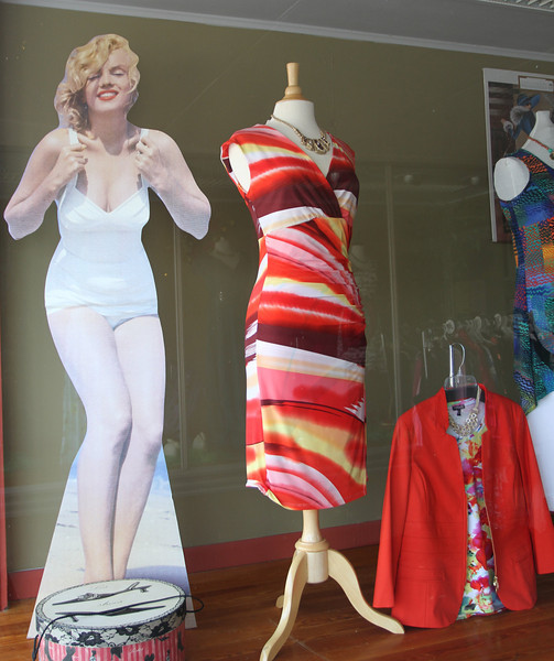 Apparently Marilyn is still in fashion but certainly a little early for Spring in Monroe.