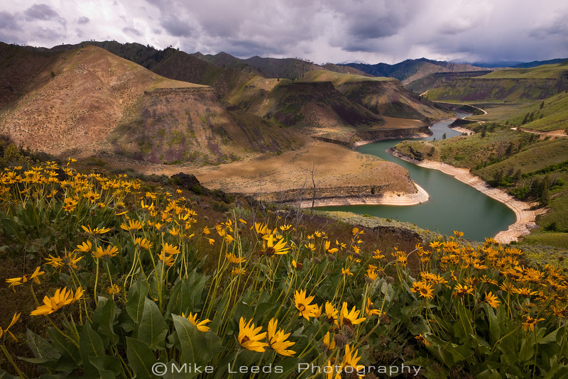 Tail end of Arrowrock and the S.F. Boise River in Idaho.