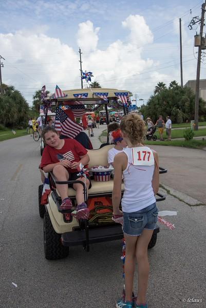 Pirates Beach, Galveston 4th of July Parade 2015