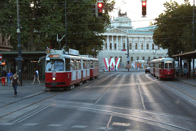 The Ringstrasse, a wide boulevard that circles Vienna's inner city core along a path that used to be the site of the ancient wall which protected the city from invaders. Most of the historic structures, museums and churches are inside or bordering the Ringstrasse.
