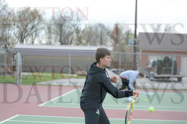 Newton Boys Tennis vs. Indianola 4-20-21