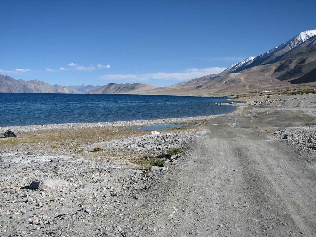 Pangong Tso. Driving along the shore of a 130 kms lake. At an altitude of 4000 meters. Priceless