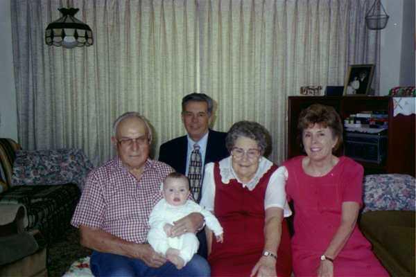 99 Allen's blessing day w grand & greatgrandparents.JPG
