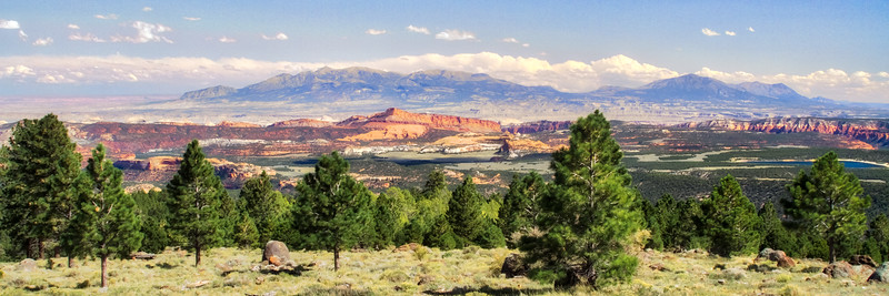Capitol Reef as seen from the mountains