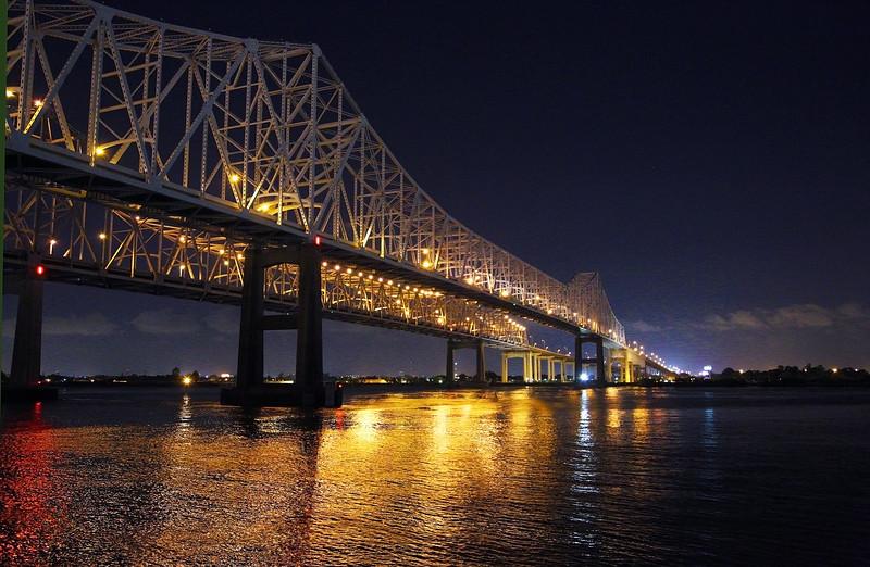 The Bridge again -- beautiful at night ...