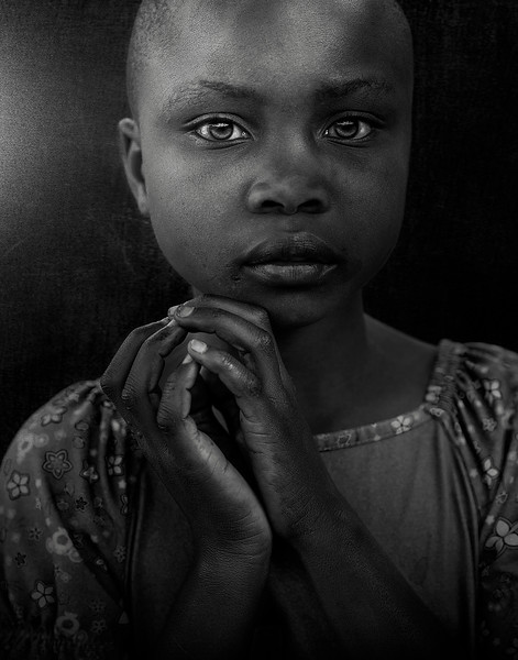 Portrait of a little girl.  Tanzania, 2019.