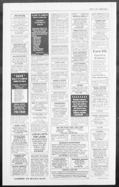 Summer Trojan, Vol. 118, No. 7, June 24, 1992