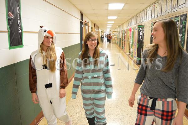 12-22-15 NEWS Pajama Day at Tinora HS