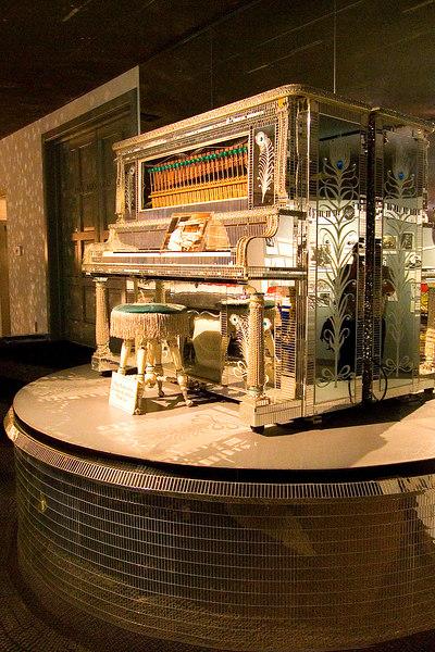 glittery piano