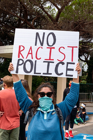 Aug 29 BLM Protest against Racial Profiling in Tiburon