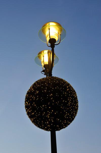 Festive decoration near the Grand Hyatt Hotel, Potsdamer Platz, Berlin.