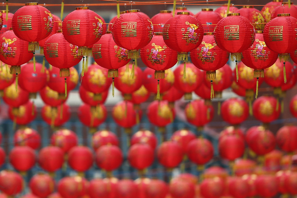 . Lanterns hang above the street in China Town on January 30, 2014 in London, England.  (Photo by Dan Kitwood/Getty Images)