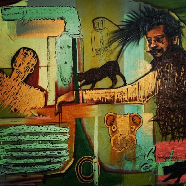 Funky Oaxaca street art, Mexico