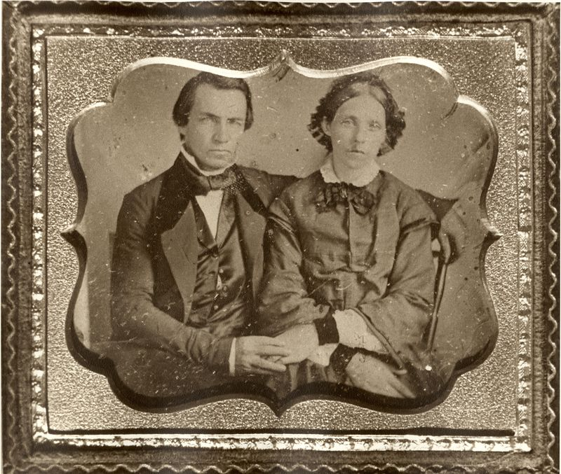 Benedict Stevens (1802-1883) and his wife Eve Ow (1804-1882)