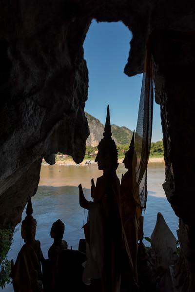 Statues of Buddha in Pak Ou Caves, Pak Ou District, Luang Prabang, Laos